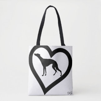 love sighthound/whippet farrowed, case love tote bag