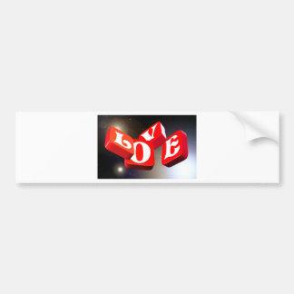 Love sign bumper sticker