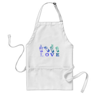 LOVE Sign Language - Hand Sign Tees, Gifts Standard Apron