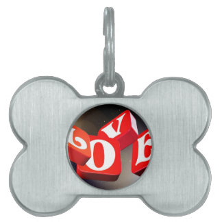 Love sign pet ID tag