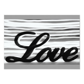 Love sign with white light streaks behind 13 cm x 18 cm invitation card