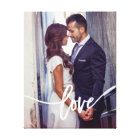 Love | Simple Modern Typography with your Photo Canvas Print