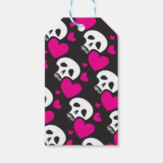 Love Skull Pattern Gift Tags
