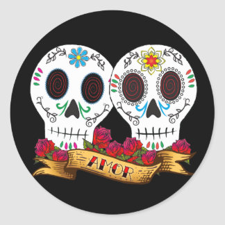 "Love Skulls ""Amor"" Sticker"