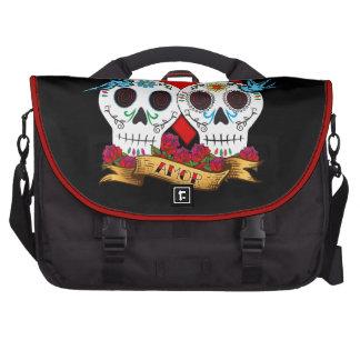 Love Skulls Day of the Dead Commuter Laptop Bag