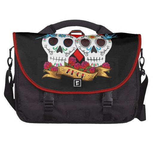 Love Skulls Day of the Dead Commuter/Laptop Bag