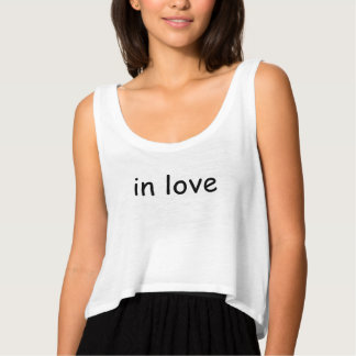love slogan crop top flowy crop tank top