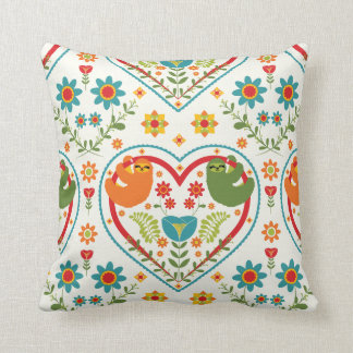 Love Sloth Brightfolk Throw Pillow