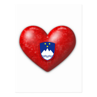 Love Slovenia Postcard