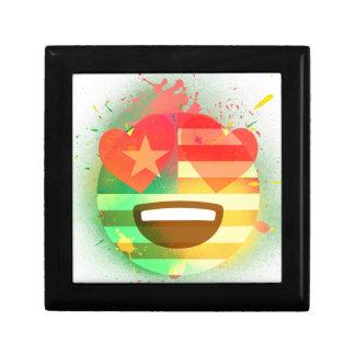 Love Smile America flag Emoji Spray Paint Art Gift Box