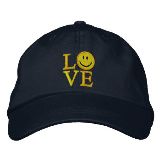 LOVE Smiley Cap Embroidered Hats