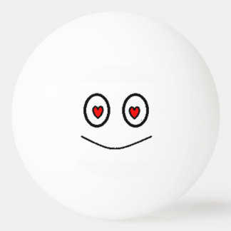 Love Smiley romantic face with hearts as eyes Ping Pong Ball