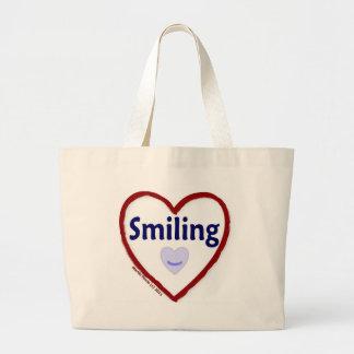 Love Smiling Jumbo Tote Bag