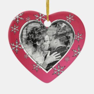 Love Snow Wedding Ceramic Heart Decoration