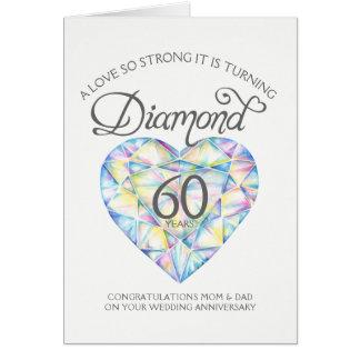 Love so strong diamond anniversary parents card
