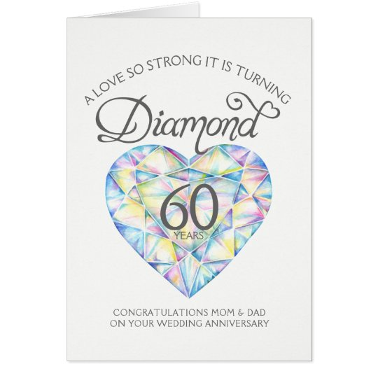 Love so strong diamond anniversary parents card