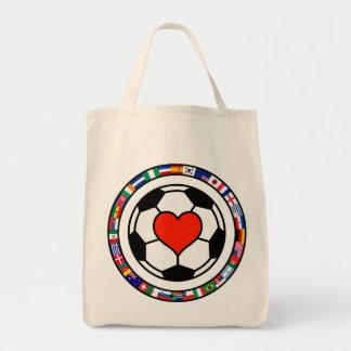 Love Soccer 2010 Grocery Tote Bag