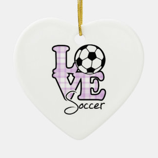 Love Soccer Christmas Ornament