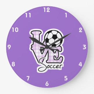 Love Soccer Large Clock
