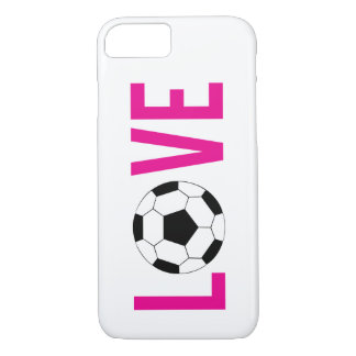 Love Soccer Pink iPhone 7 Case