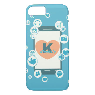 Love Social Media Custom Monogram Phone Case