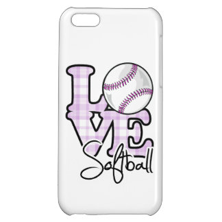 Love Softball Cover For iPhone 5C