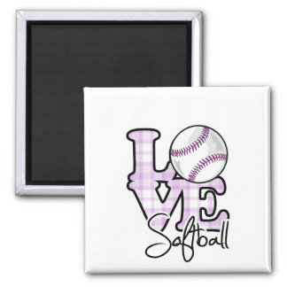 Love Softball Magnet