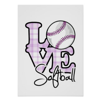 Love Softball Poster