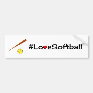 Love softball slogan white bumper sticker