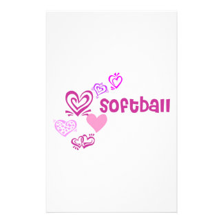 Love Softball Stationery