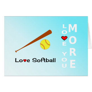 Love Softball Valentines Day romantic sports Card