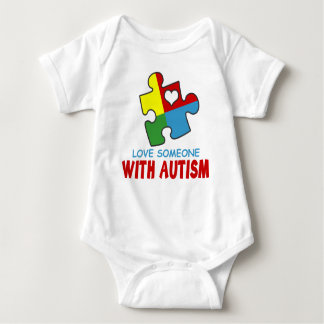 love someone with autism baby bodysuit