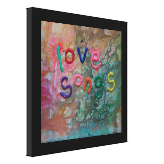 love songs gallery wrapped canvas