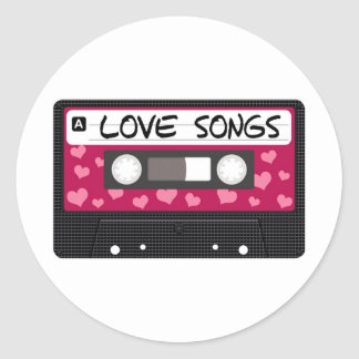 Love Songs Tape Classic Round Sticker