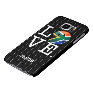 Love South Africa Smiling Flag Samsung Galaxy S6 Cases