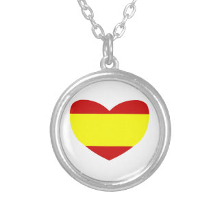 Love Spain Silver Plated Necklace