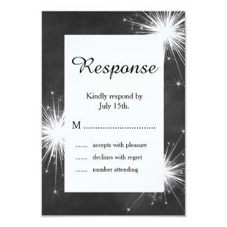 Love Sparkles RSVP 9 Cm X 13 Cm Invitation Card