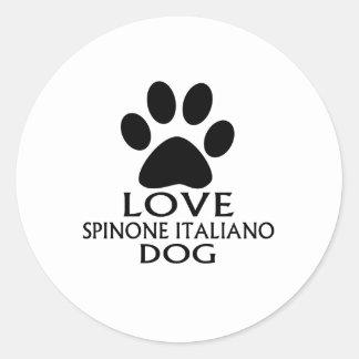 LOVE SPINONE ITALIANO DOG DESIGNS CLASSIC ROUND STICKER