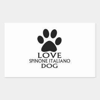 LOVE SPINONE ITALIANO DOG DESIGNS RECTANGULAR STICKER
