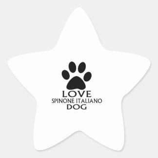 LOVE SPINONE ITALIANO DOG DESIGNS STAR STICKER