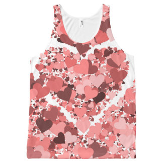 Love Splash All-over-print Unisex Tank Tops