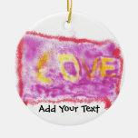Love Spray on Purple Christmas Ornament