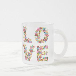 LOVE Spring Flowers Romantic Valentine Wedding Mug
