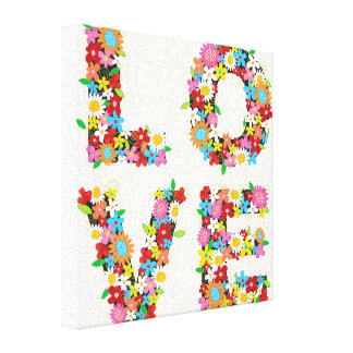 LOVE Spring Flowers Whimsical Nursery Wall Art