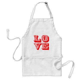 LOVE Square Standard Apron