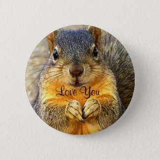 Love Squirrel_ 6 Cm Round Badge