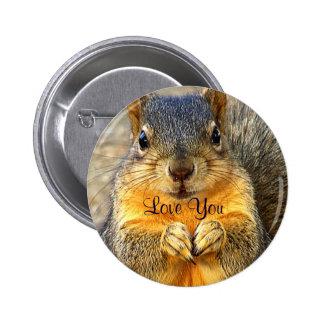 Love Squirrel_ 6 Cm Round Badge