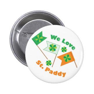 Love St Paddy 6 Cm Round Badge