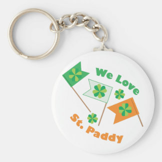 Love St Paddy Basic Round Button Key Ring