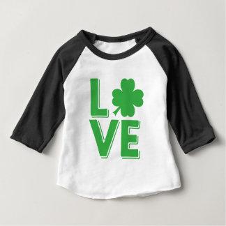 Love St. Patrick's Day Irish Shamrock Green Baby T-Shirt